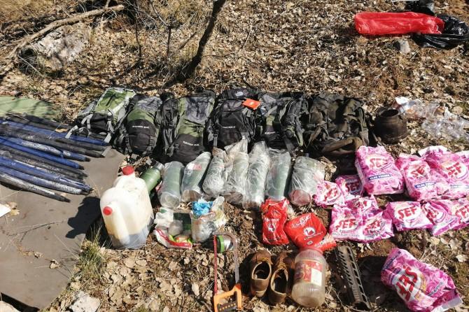 Bomba yapımında kullanılan sığınaklar imha edildi