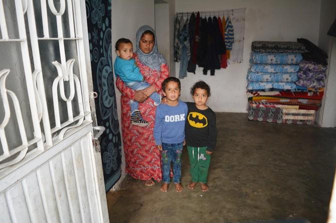 Yokluk içinde yaşam mücadelesi veren Suriyeli aile yardım bekliyor