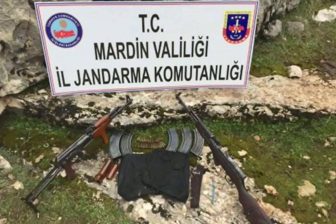 Mardin kırsalında PKK'ye ait silah ve patlayıcı ele geçirildi