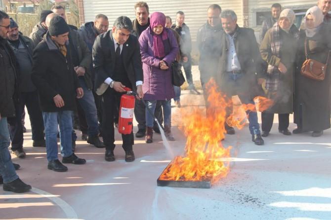 Yangın eğitimi ve tatbikatı yapıldı