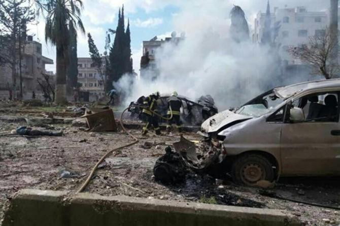 Twin explosion in Syria's Idlib