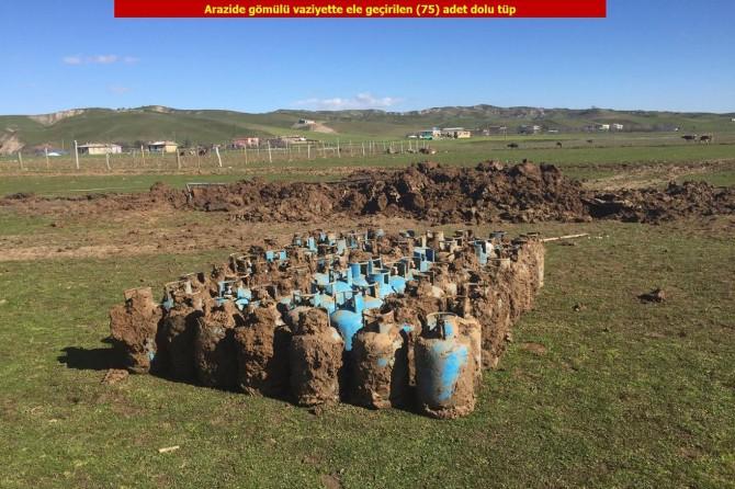 Patlayıcı yapımında kullanılan tüpler ele geçirildi