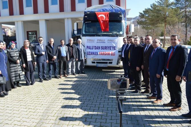 Palu'dan kamplardaki Suriyeliler için bir TIR yardım gönderildi