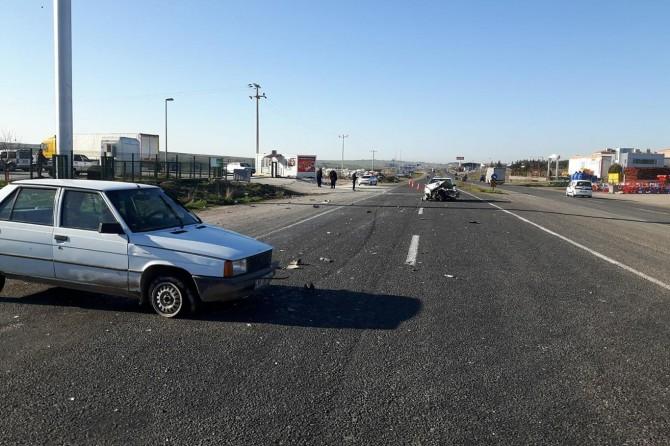 Siverek'te iki otomobil çarpıştı: 4 yaralı