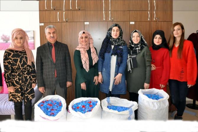 Bitlis'te engelliler için mavi kapak toplama kampanyası başlatıldı