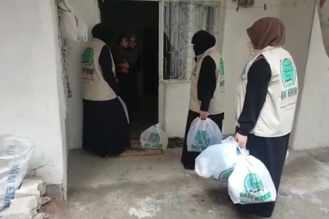 Umut Kervanı'ndan Suriyeli ailelere yardım eli