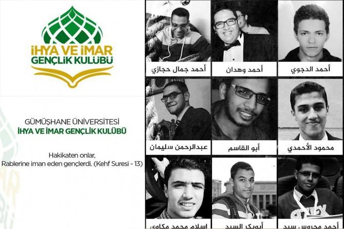 Gümüşhane Üniversitesi öğrencilerinden Mısır'da 9 gencin idam edilmesine tepki
