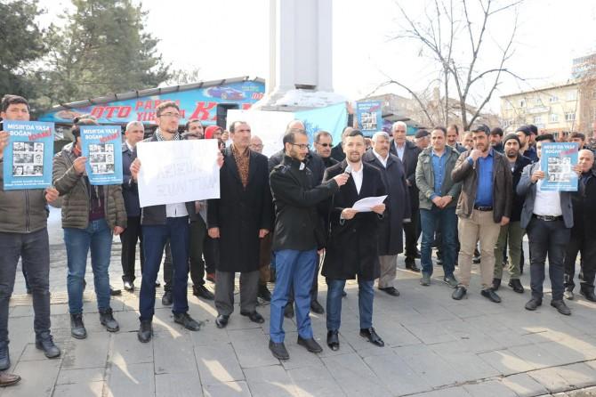 9 genci idam eden Mısır cuntası Bingöl'de protesto edildi