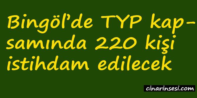 Bingöl'de TYP kapsamında 220 kişi istihdam edilecek