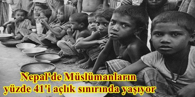 Nepal'de Müslümanların yüzde 41'i açlık sınırında yaşıyor