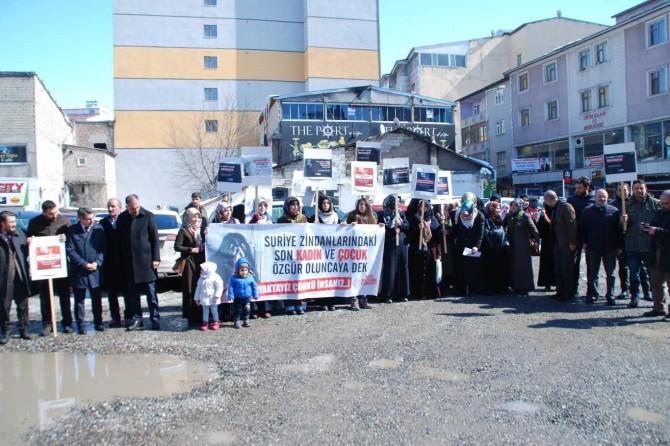 Suriye hapishanelerinde bulunan kadın ve çocuklar özgürlüklerine kavuşmalı