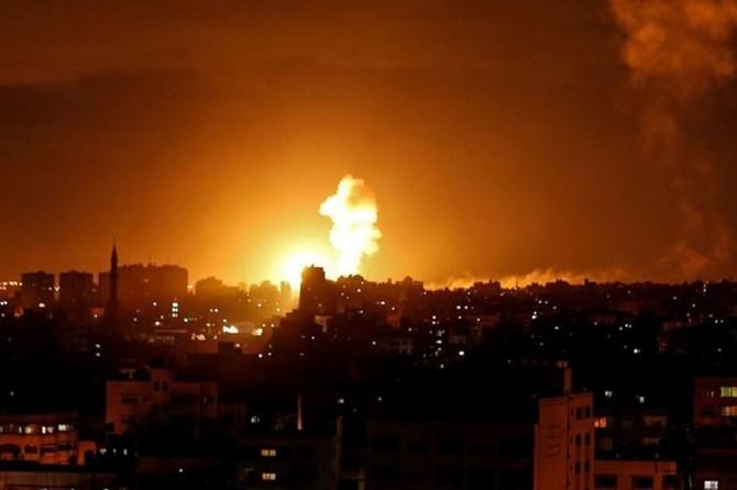 Siyonist çetelerden Gazze'ye hava saldırıları