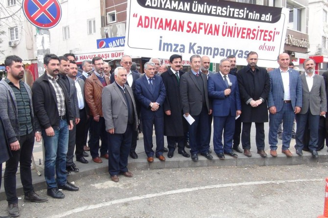"""Adıyaman Üniversitesinin adı """"Adıyaman Safvan Üniversitesi"""" olarak değiştirilsin"""