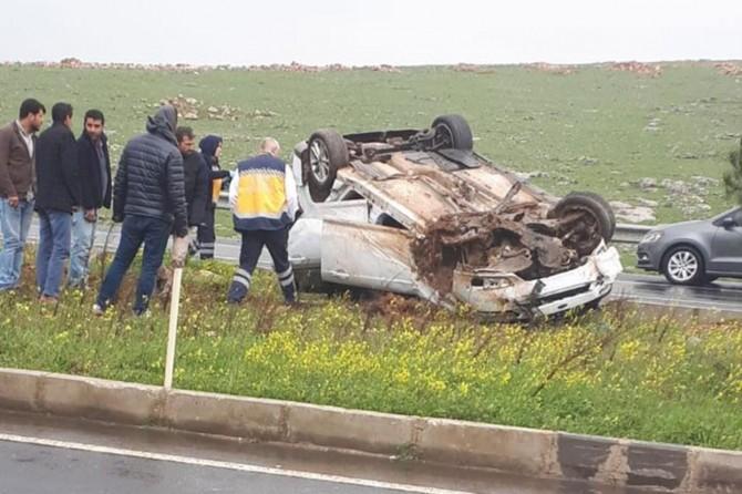 Kontrolden çıkan araç takla attı: Bir yaralı
