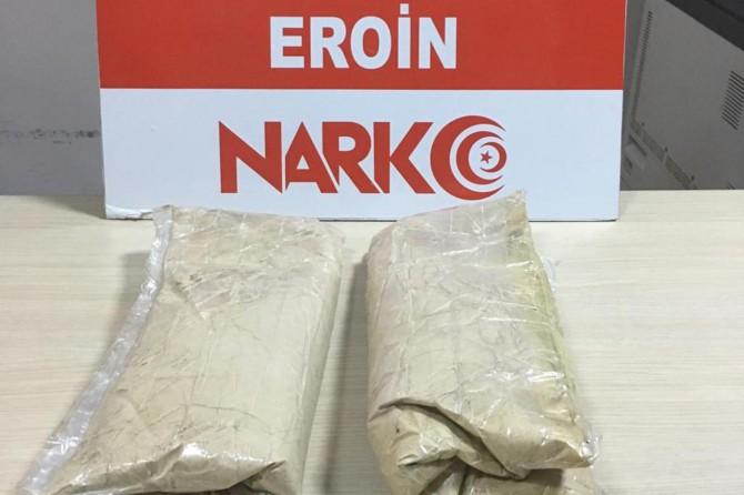 Bitlis'te 2 kilogram eroin ele geçirildi