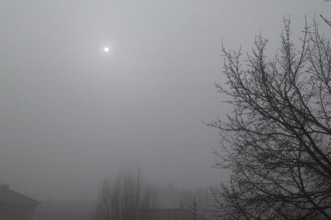 Yoğun sis Ağrı'da etkili oldu