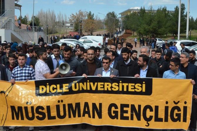 Dicle Üniversitesi öğrencileri Yeni Zelanda'daki terör saldırısını kınadı