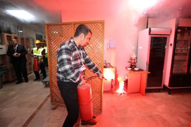 Gaziantep Üniversite hastanesinde yangın tatbikatı