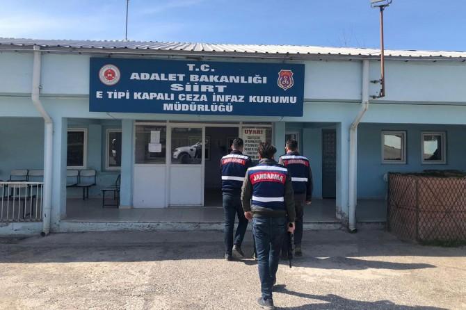 Siirt'te 8 ayrı suçtan aranan cezaevi firarisi yakalandı