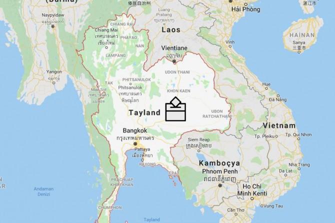 Tayland darbeden sonra ilk kez sandık başında