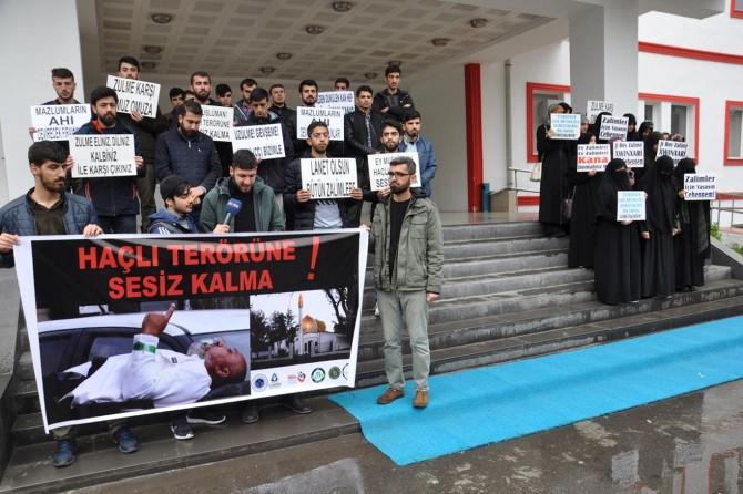 Batman Üniversitesi öğrencileri Haçlı terörünü protesto etti