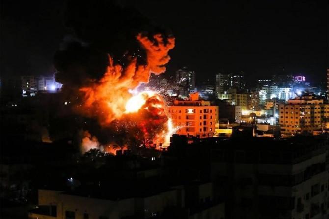 Siyonist işgalciler, Heniyye'nin Gazze'deki ofisini bombaladı