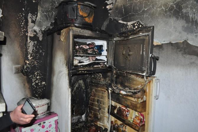Evi yanan yatalak babadan yardım talebi
