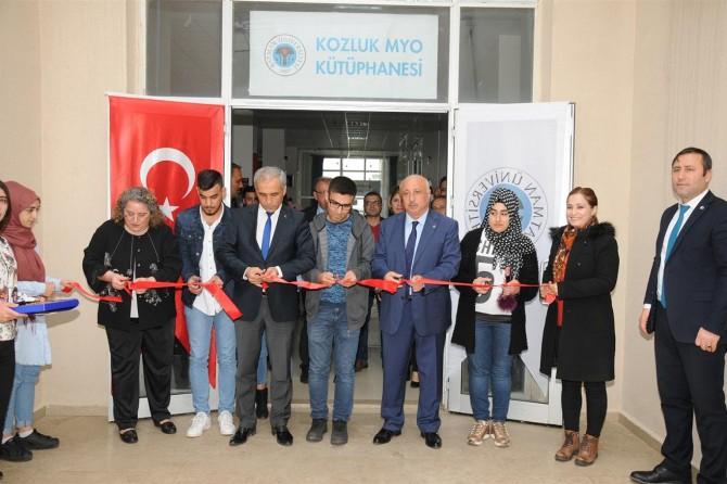 Kozluk MYO'nun kütüphanesi açıldı