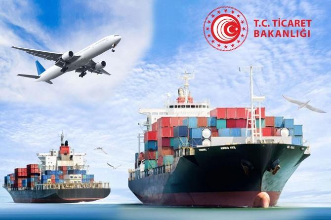 Ticaret Bakanlığı dış ticaret verilerini açıkladı
