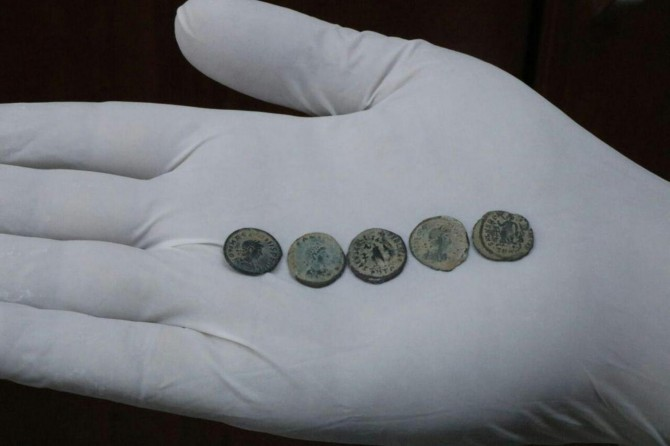 Roma dönemine ait sikke ele geçirildi