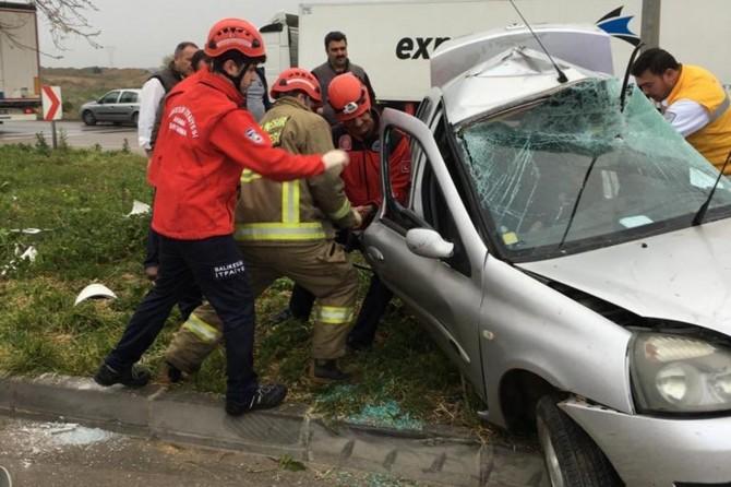 Bandırma'da kaza: 1 yaralı