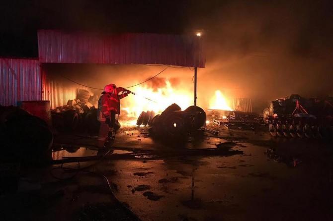 Zeytinyağı fabrikasında yangın