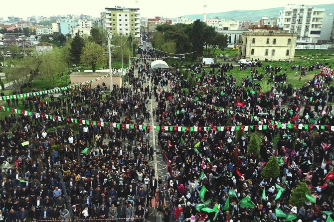 Cizre people emotionalize their love for the Prophet