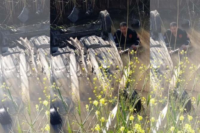 Akçakale-Şanlıurfa Karayolu'nda otomobil su kanalına düştü: 1 yaralı