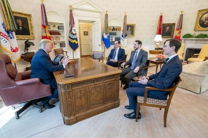 Bakan Albayrak ABD Başkanı Trump ile görüştü