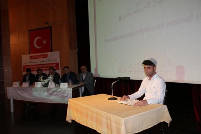 Lise öğrencileri arasında Kur'an-ı güzel okuma yarışması