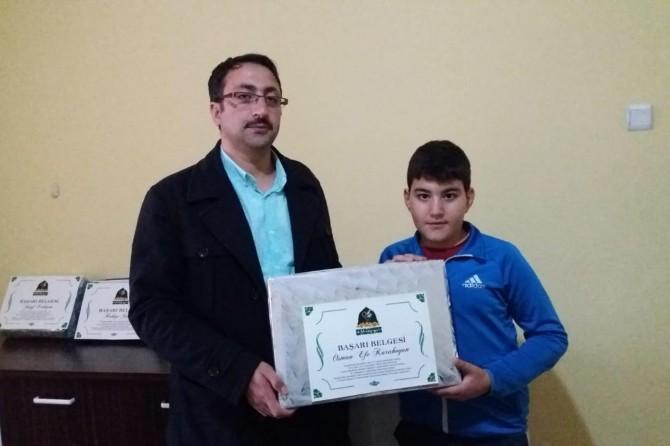Erzincan'da Siyer Sınavı ödülleri
