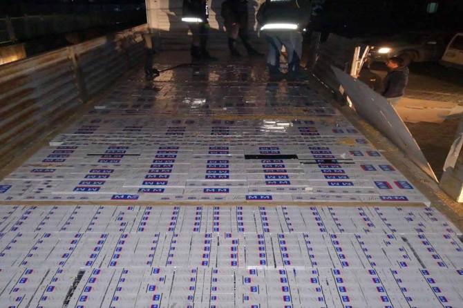 Şırnak'ta 45 bin paket kaçak sigara ele geçirildi