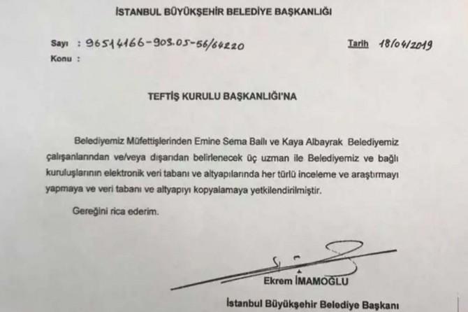 Ekrem İmamoğlu'ndan belediyenin tüm veri tabanını kopyalatma talimatı