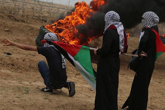 Filistinli Esir Günü Cuması gösterilerinde 37 kişi yaralandı