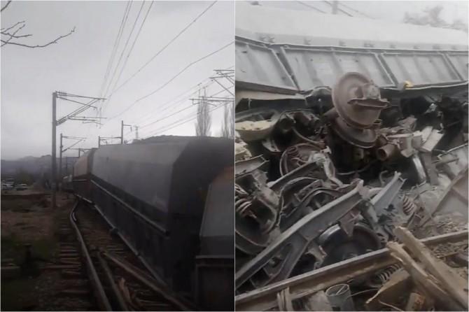 Hekimhan'da tren kazası