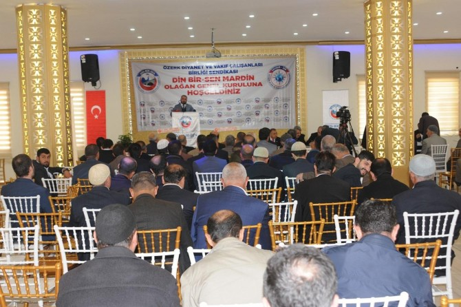 Din-Bir-Sen Mardin Şubesi olağan kongresini yaptı