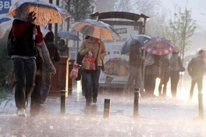 Meteorolojîyê ji bo hinek bajaran hişyarîya barana zêde kir