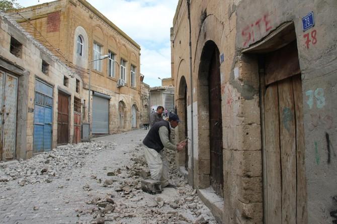 Midyat'ta tarihi çarşı ve sokaklar restorasyon ediliyor