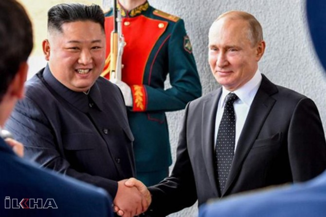 Kim and Putin meet