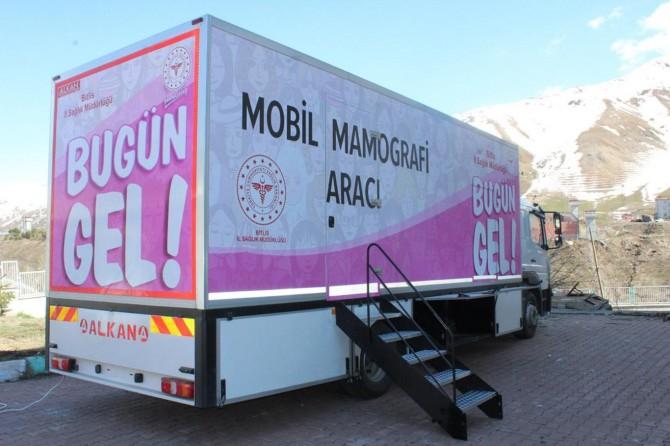 Bitlis'te mobil kanser tarama aracı hizmete başladı