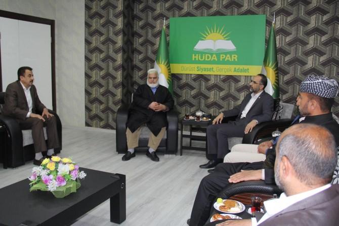 Komela İslami'den HÜDA PAR Genel Başkanı Sağlam'a ziyaret