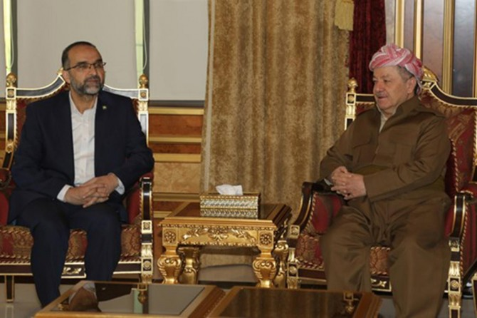 HUDA PAR President Ishak Sağlam meets Barzani