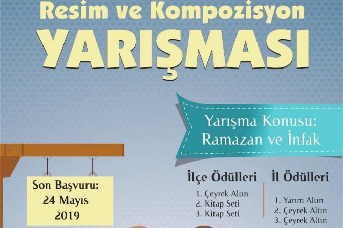 Adıyaman'da Ramazan ve infak konulu resim yarışması
