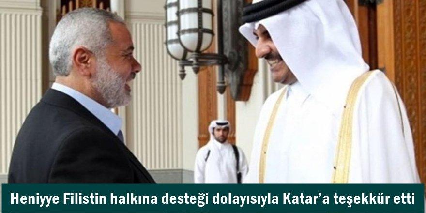 Heniyye Filistin halkına desteği dolayısıyla Katar'a teşekkür etti